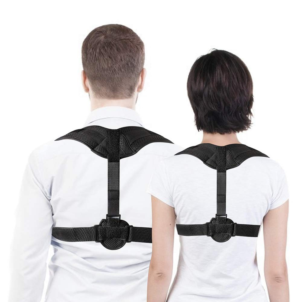 VOLUEX Back Posture Corrector for Women & Men, Best Fully Adjustable Support Brace, Improves Posture and Provides Lumbar Support -Back, Shoulder, and Neck Pain Relief - Posture Trainer