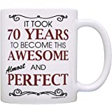 70th Birthday Gifts For All Took 70 Years Awesome Funny Party Gift Coffee Mug Tea Cup White