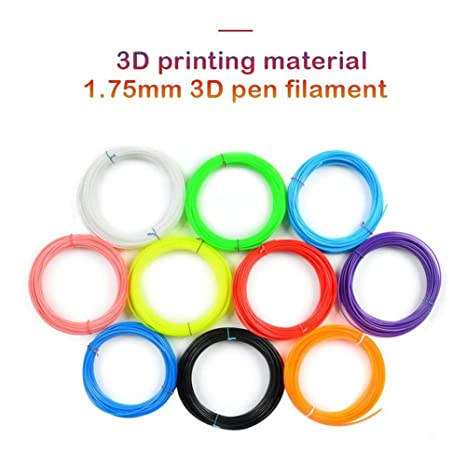 Wetour Juego de 10 filamentos para Impresora 3D, 1,75 mm, 10 ...