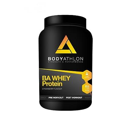 100% Whey Protein 1000g Fresa. Proteína de suero de leche con Vitamina B6 y