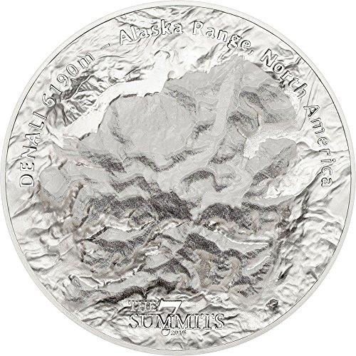2016 CK 7 Summits PowerCoin DENALI Alaska Range Mount 5 Oz Silver Coin 25 Cook Islands 2016 (Alaska Coin)