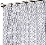 Extra Long Shower Curtain Unique Designer Fabric Gray Tommy Bahama Star Batik 72'' x 96''