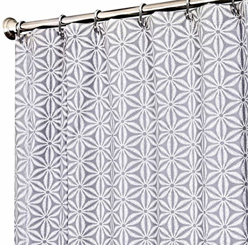Extra Long Shower Curtain Unique Designer Fabric Gray Tommy Bahama Star Batik 72