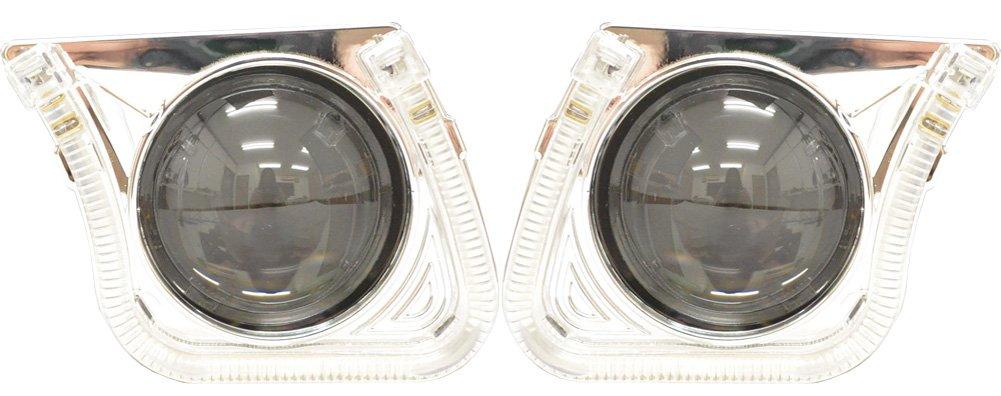 ファクトリーダイレクト プロジェクターランプPRO-CH38HL U字型LEDイカリング装備!60mm汎用プロジェクターライトレンズ Bi-Xenon ハイロー切替可能 日本仕様 B079TVX187