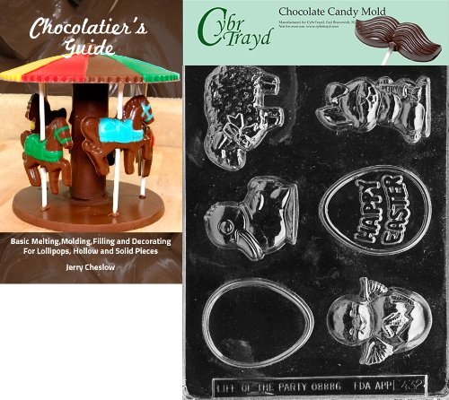 """Cybrtrayd """"Easter Assortment"""" Easter Chocolate Candy Mold wi"""