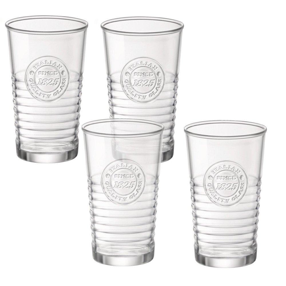 Bormioli Rocco 540620G10021990 Officina1825 Water Glass - 10.25 oz - 4 Piece Set, Clear