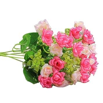 JYJM25 Flores de rosas de látex para decoración de bodas, fiestas, hogar, ramos, decoraciones para dormitorio, ...