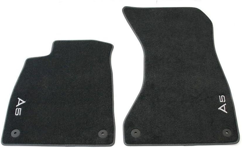 textil felpudos de 2/piezas delantero Premium Terciopelo felpudos alfombrillas de pl/ástico 8/W106/1275/a MNO tipo B9, a partir de 2017 Original Audi A5/S5/