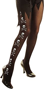 Skull Damenstrumpfhose Totenkopf Strumpfhose Totenköpfe Feinstrumpfhose Gothic