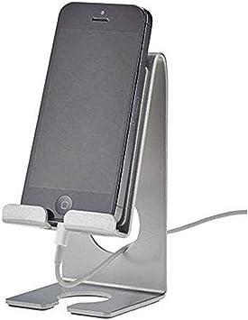 Acrimet Soporte para Teléfonos Celulares Inteligentes (Smartphone) para Mesa o Pared (Color Plateado): Amazon.es: Electrónica