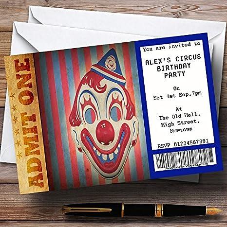 amazon com spoof circus clown ticket theme personalized birthday
