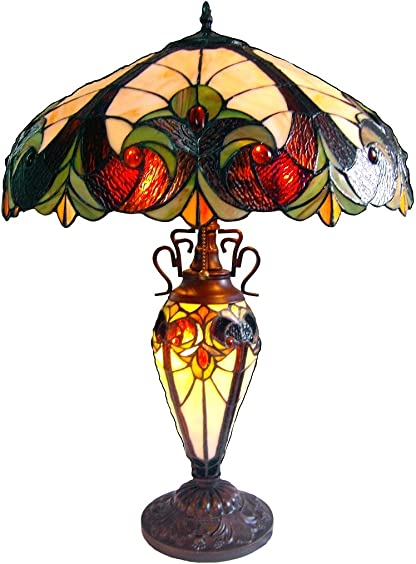 Chloe Lighting CH18780I-DT3 Light Victorian Double Lit Table Lamp