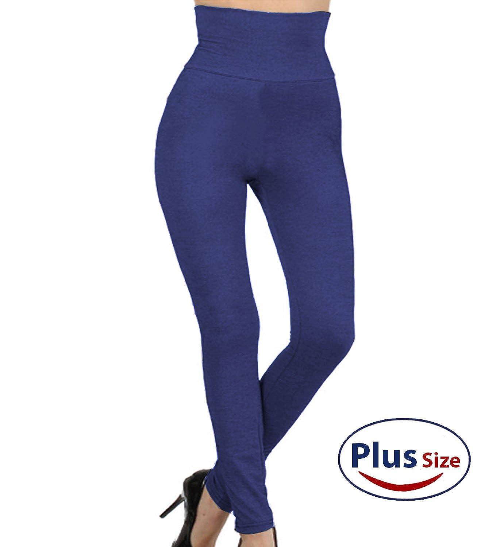 Kuda-010PLus High Waist Full Length Compression Top Brushed Warm Winter Tummy Control Pants Plus Size XL 2XL