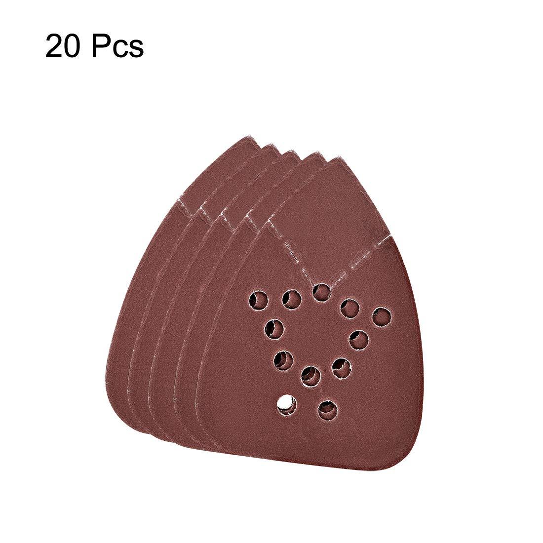 sourcing map Papel de lija con 2 puntas 20 piezas granos 800 lijadora surtida con detalle de rat/ón 12 agujeros