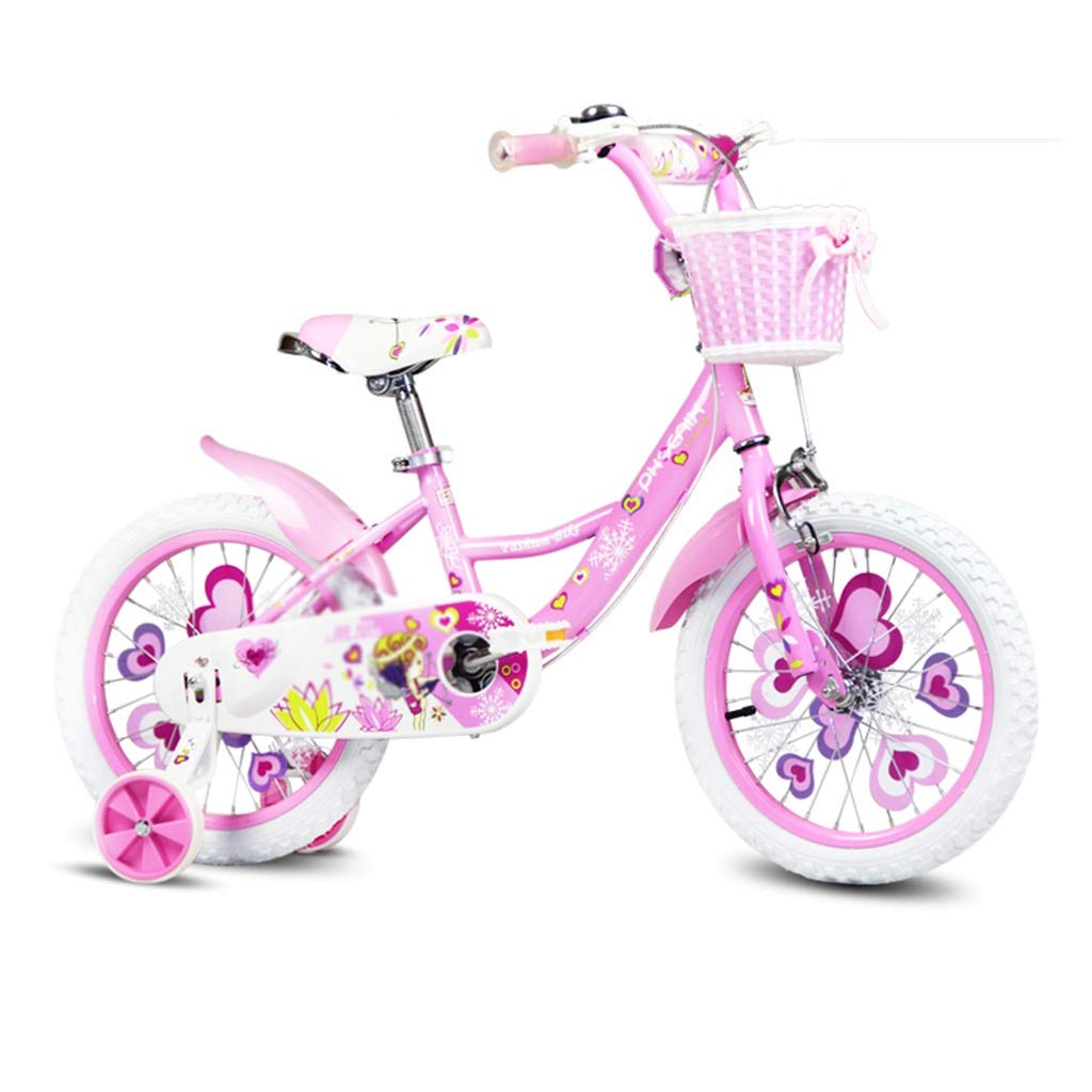 Pink 12inches Kids' Bikes Student Bicycle Single Speed Bicycle Student Bicycle Girl Bicycle Bicycle, High Carbon Steel Frame (color   bluee, Size   14inches)