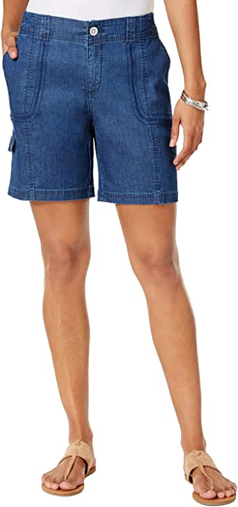 Style & Co. Petite Cargo Bermuda Shorts at Amazon Women's