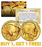 24K Gold Plated 2017 AMERICAN GOLD BUFFALO Indian Coin * BUY 1 GET 1 FREE * BOGO