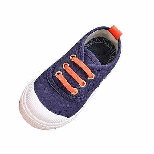 Rawdah Zapatillas de Deporte de Lona de Color Caramelo de Moda de Bebé Zapatos Ocasionales de