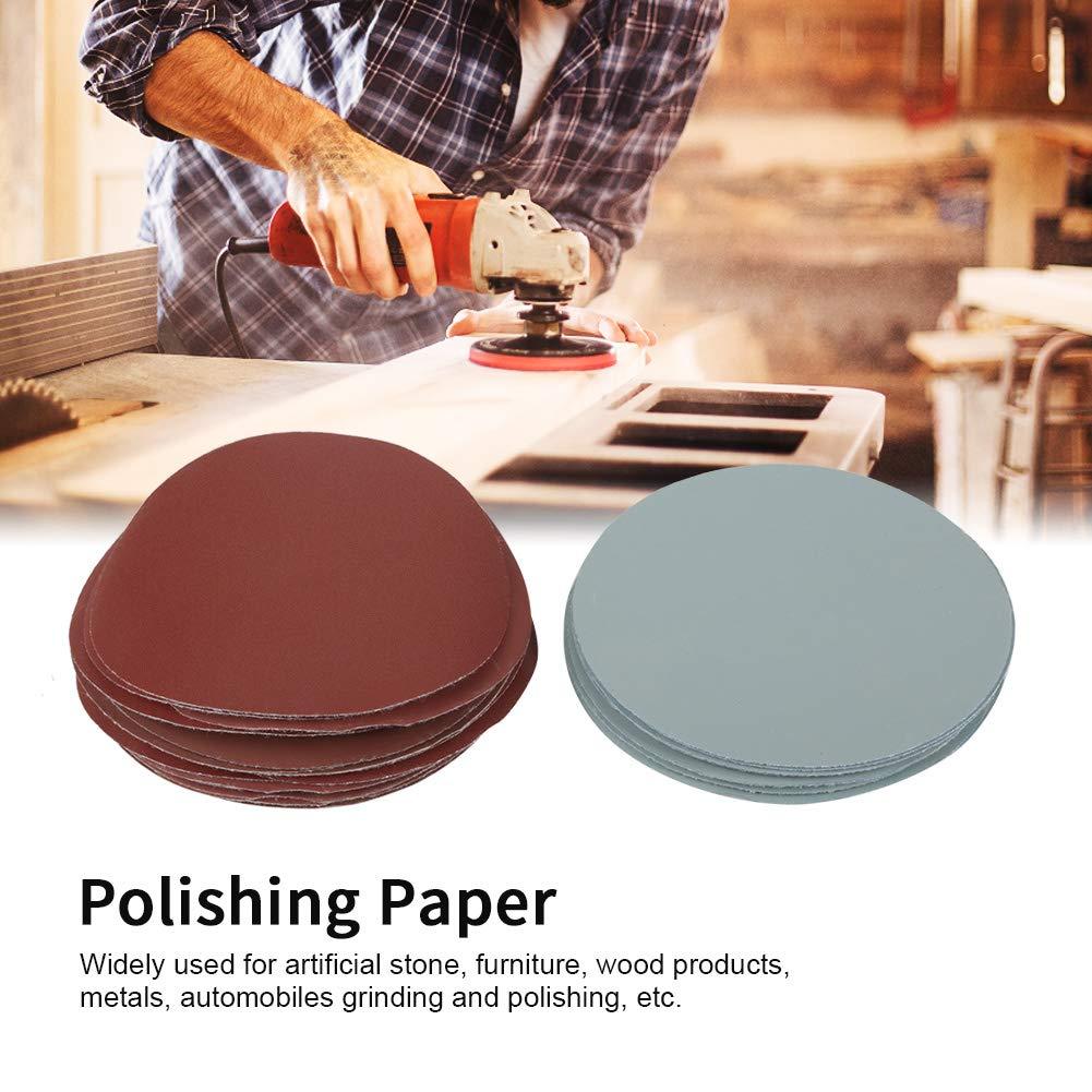 Abrasive Sandpaper 25pcs Mix Grit Sander Disc Sanding Aluminum Oxide Polishing Paper Pads Abrasive Sandpaper Set for Deburring Sanding