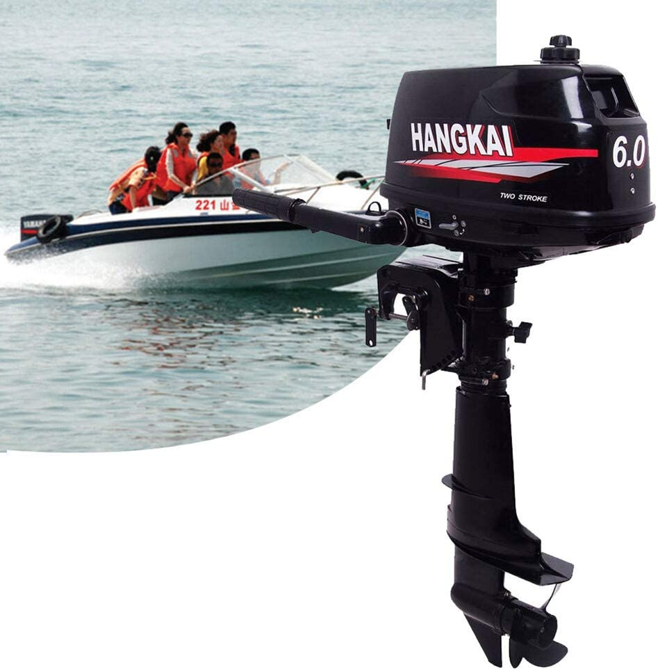 US DELIVER Outboard Motor/Engine 3.5Hp-18HP Horsepower Water Cooling Inflatable Boat