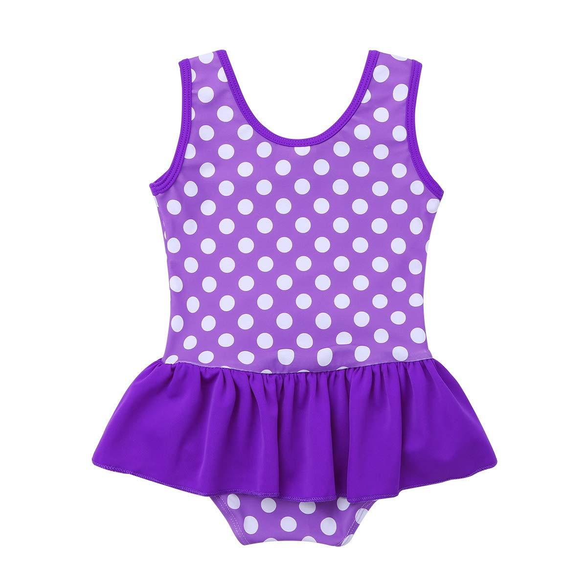 iEFiEL Baby M/ädchen Badeanzug Einteiler Bikini UV-Schutz Bademoden All-Over gepunktet 62 68 74 80 86 92 98