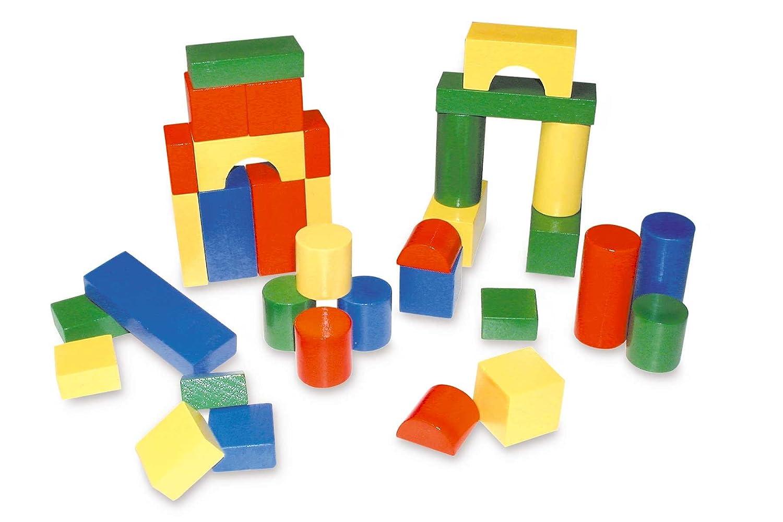 Prasent Briques en Bois, Multicolore, 007063.102 C.W.R.