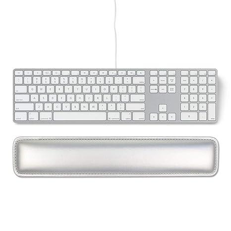 einfaches Tippen und Schmerzlinderung 16.5 Silver Tastatur-Handgelenkauflage aus weichem PU-Leder mit Innenpolsterung aus weichem Schaumstoff f/ür B/üro//Computer//Laptops//MacBooks