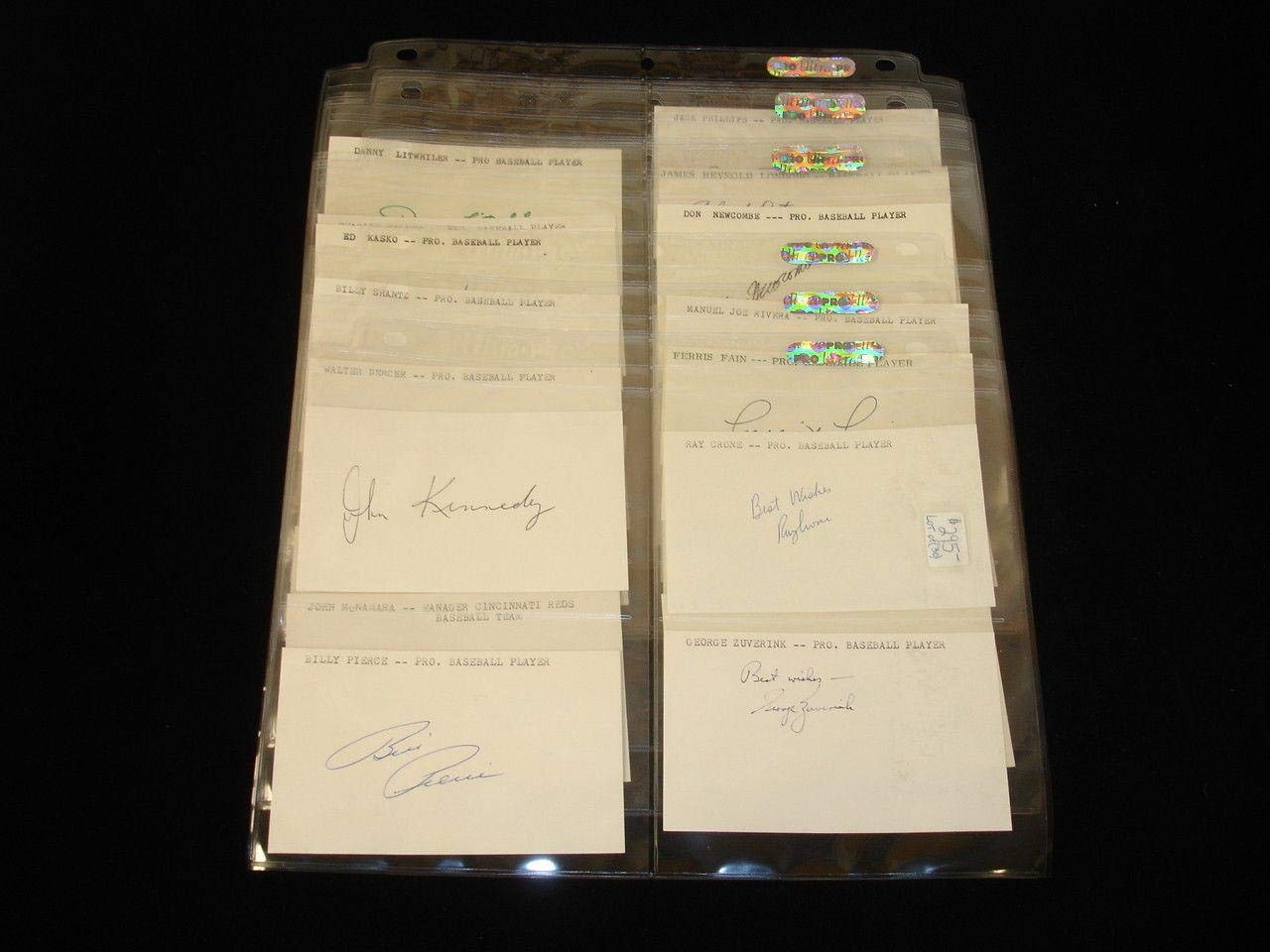 """Lot of 30 Different MLB Baseball Players Signed 3x5"""" Unlined Index Cards MLB Cut Signatures"""