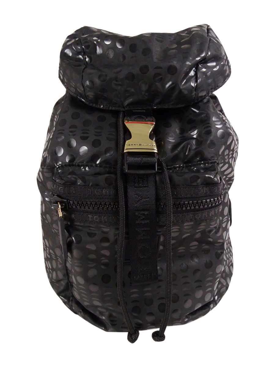 Tommy Hilfiger Women's Black Training Plus Solid Nylon Small Backpack