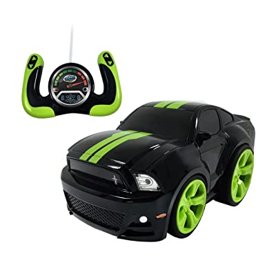 Gear'd Up Remote Control Ford Mustang - Bandit Black with Green Stripes: Toys & Games
