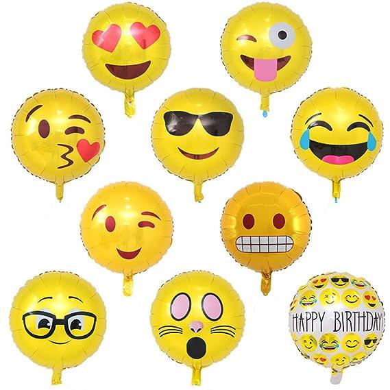 Amazon.com: Globos de fiesta 18 inch Emoji caras divertidas ...