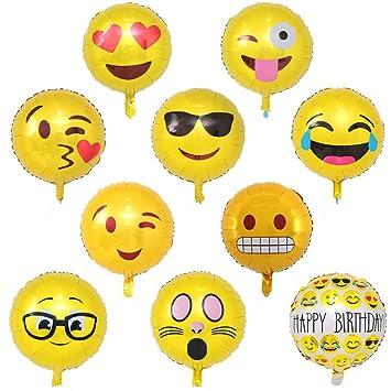 Emoji Ballons 20 Stuck 18 Party Luftballons Helium