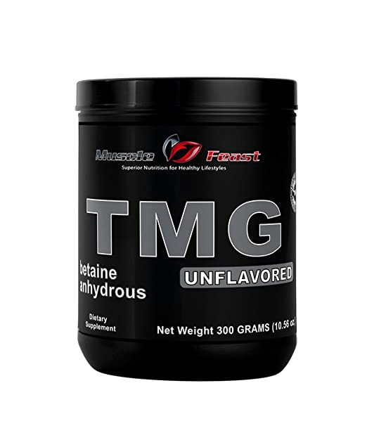 Pure Betaine Anhydrous Trimethylglycine (TMG) Powder by Muscle Feast (300 grams)