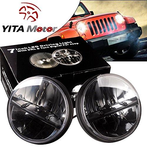 YITAMOTOR Headlights Projector Daymaker Wrangler