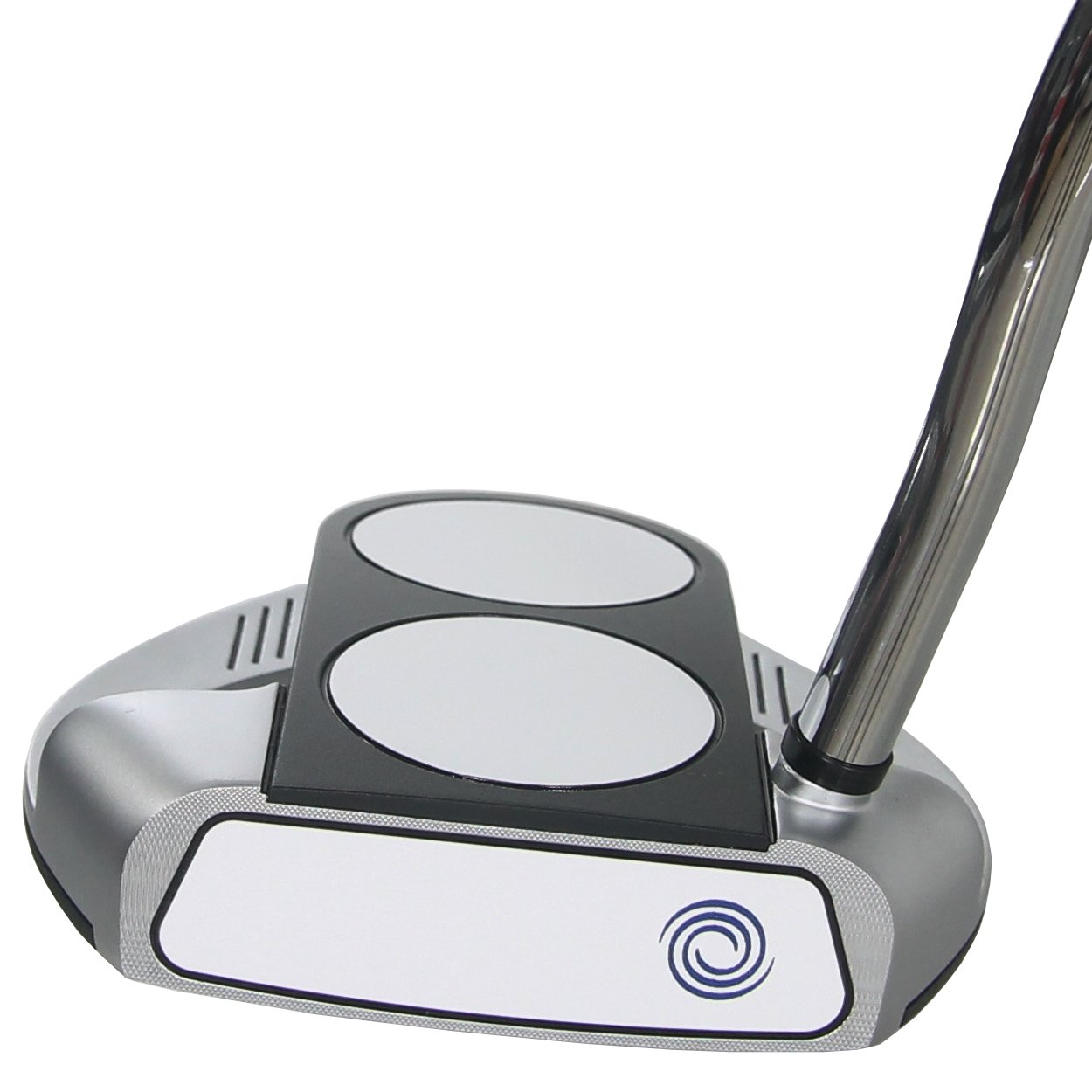 Odyssey Golf Works 2-Ball Fang Tank Putter with SuperStroke Grip