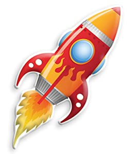 In My Room Jr. Big Red Rocket Toddler Room Décor Night Light