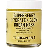 Youth To The People Superberry Hydrate + Glow Dream Mask - Vegan Face Mask with Hyaluronic Acid + Antioxidant Vitamin C…