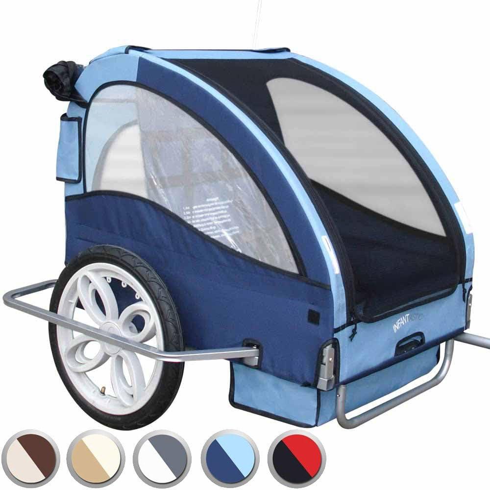 Infantastic - FAH17/2-Bijou Blue - Remolque de Bicicleta para 2 ...