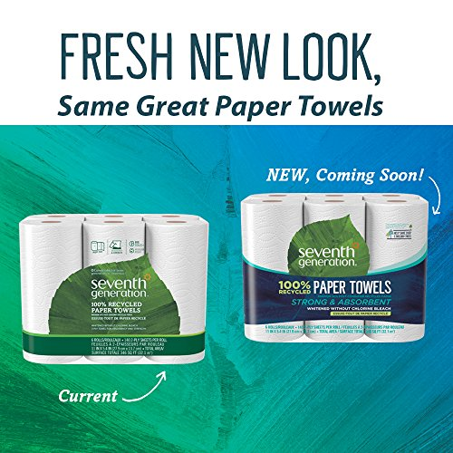 Seventh Generation Paper Towels, 100% Recycled Paper, 2-ply, 6-Count (Pack of 4) by Seventh Generation (Image #3)