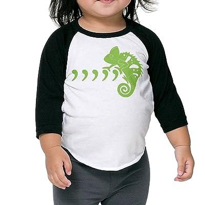 SH-rong Green Cool Chameleon Kids Custom Tee