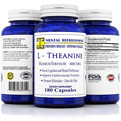 Mental Refreshment L Theanine Capsules Strength