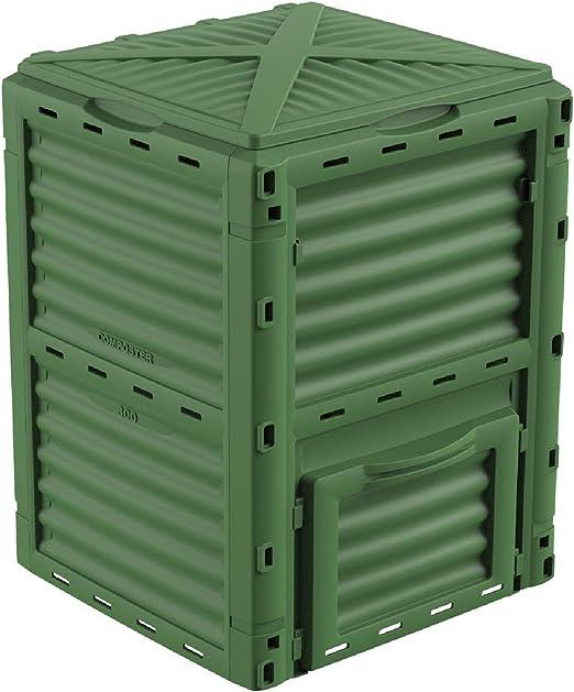 Gardiun Compostador New Organic 300 L 60x60x82 cm Polipropileno Reciclado: Amazon.es: Jardín