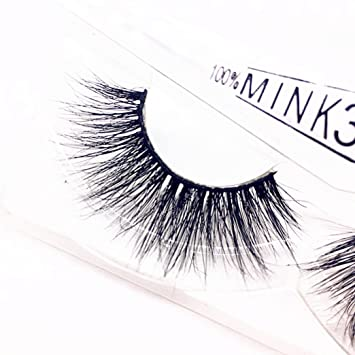 93d2c3d9dfa Amazon.com : NewKelly 1 Pair Luxury 3D False Lashes Fluffy Strip Eyelashes  Long Natural Party : Beauty