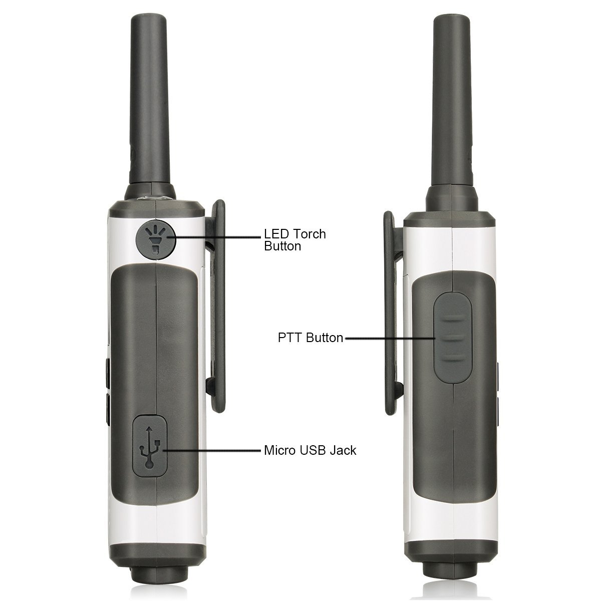 Retevis RT45 Walkie Talkies AA Regular and Rechargeable Battery Power 2 Way Radio Call Reminder Roger Beep Sub-Channel Monitor Hands Free Two Way Radio with Flashlight 10 Pack USA1044A@10-J0067A@10-J0012A