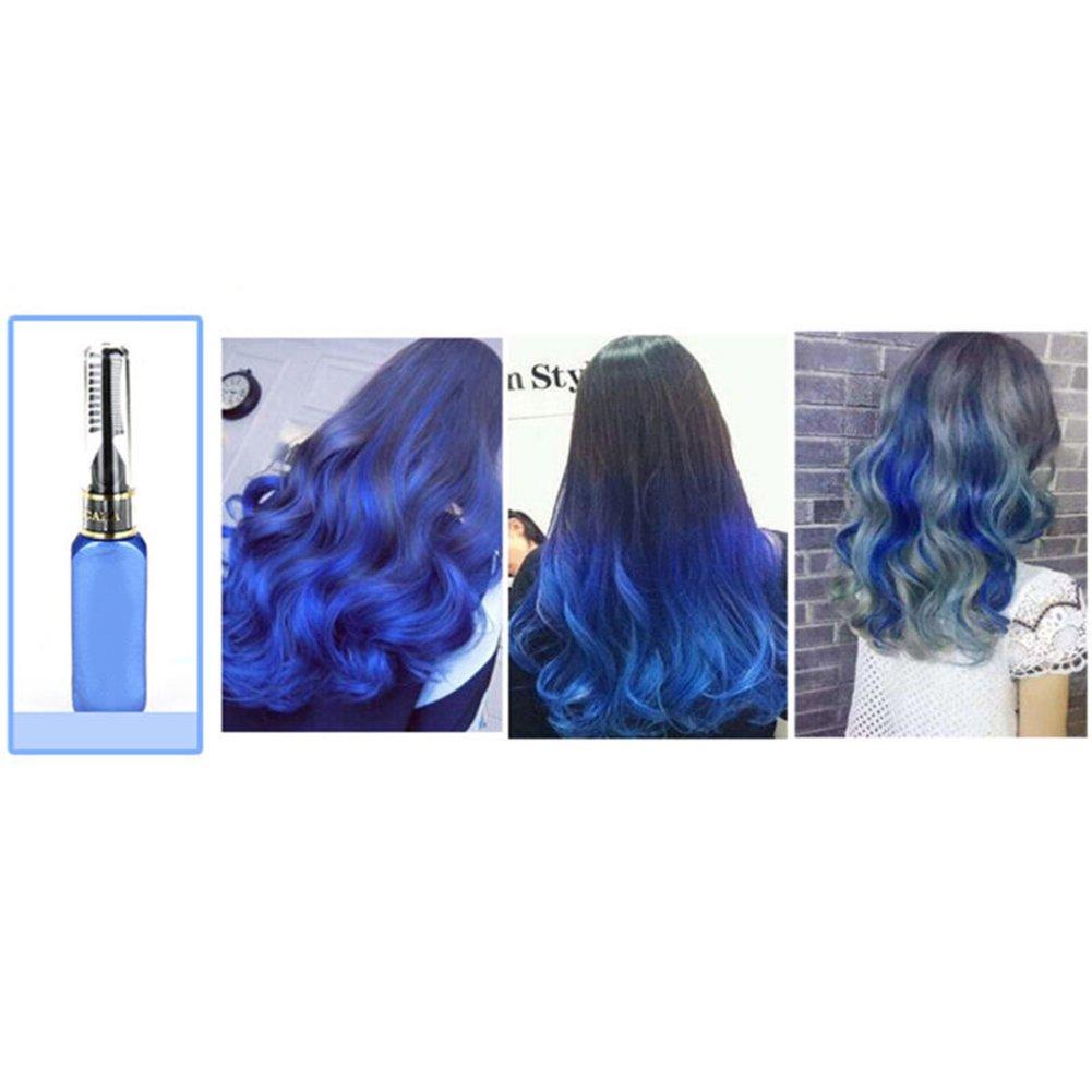 15ml temporaire non toxique Couleur Teinture capillaire Unisexe Cosplay DIY Salon Cheveux Mascara