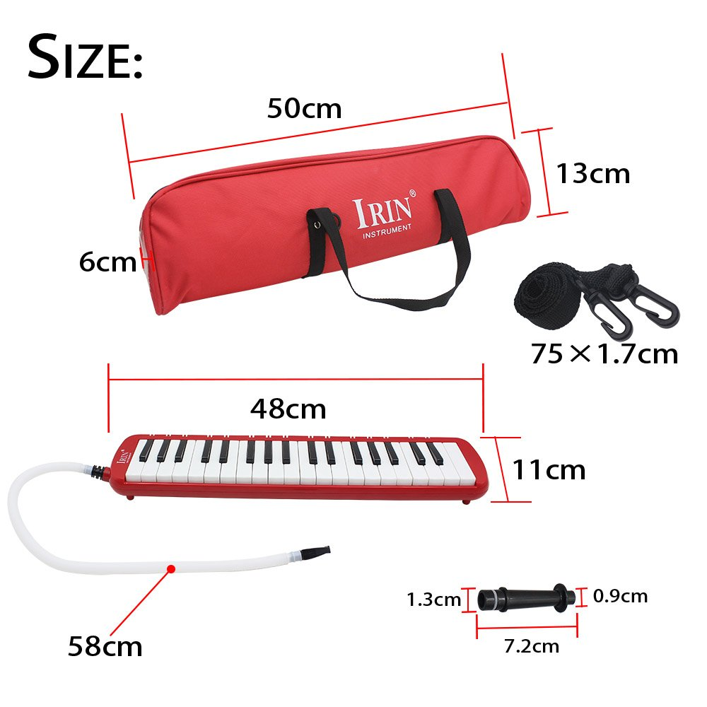 ammoon 37 Piano Keys Melodica Pianica Musical Instrument with Carrying Bag for Students Beginners Kids by ammoon (Image #3)