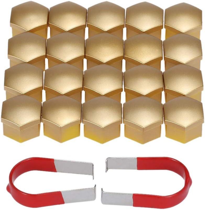 Colore : Blue W-Shuzhen-nut Set di 20 Pezzi Universale da 17 mm in plastica cromata Copridadi Dado Bolt Caps Accessori Auto Car Styling Tappo a Vite