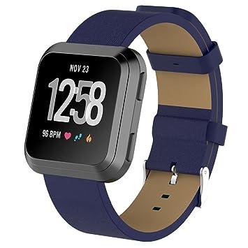 para Fitbit Versa Reloj, ☸ Zolimx Bandas de Cuero de Lujo Accesorios de Repuesto Pulsera Correas de Fitbit Versa: Amazon.es: Deportes y aire libre