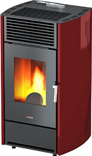 Pellet Horno Cadel Kriss Pérdida Potencia 8.5 kW - 204 M3 Beheizbare - Color Rojo: Amazon.es: Bricolaje y herramientas