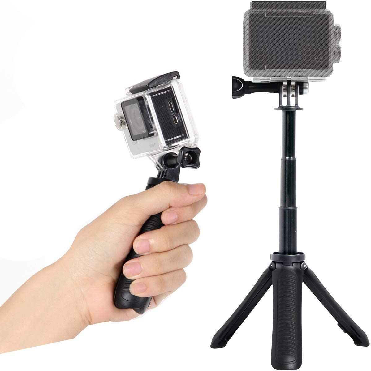 Stubby Extendable Tripod Handle. For All GoPro Hero & ActionCams ...